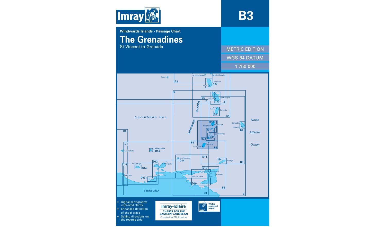 Imray Chart B3 The Grenadines St Vincent to Grenada