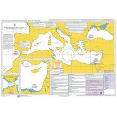 Q6110 Maritime Admiralty Security Chart, Mediterranean Sea