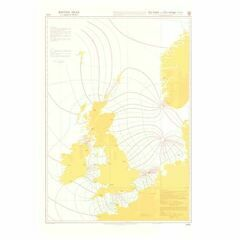 5058 Co-tidal and Co-range Lines - BritishIsles & Adjacent Waters Admiralty Chart