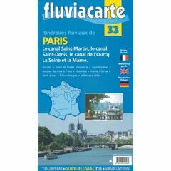 Fluviacarte No. 33. Canal de L'Ourcq Guide
