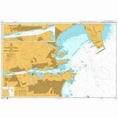 598 Porto de Vitoria and Porto de Tubarao Admiralty Chart