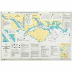 8094 Port Approach Guide Puertos Ingeniero White, Nacional and Galvan Admiralty Chart