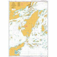 836 Mysingen to Jungfrufjarden including Dalaro Admiralty Chart