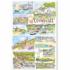 Emma Ball Cornwall Tea Towel - D