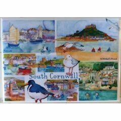 Emma Ball Cornwall Fridge Magnet