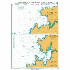 1113 Harbours on the North West Coast of Spain Admiralty Chart
