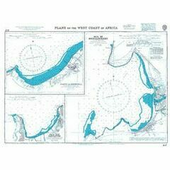 1197 Plans on the West Coast of Africa Admiralty Chart