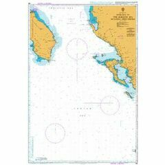 188 Entrance to the Adriatic Sea including Nisos Kerkira Admiralty Chart