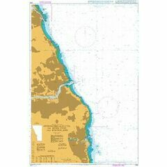 1935 Approaches to Blyth the River Tyne and Sunderland Admiralty Chart
