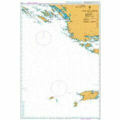 2774 Otok Vis to Sibenik Admiralty Chart