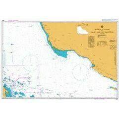 2883 Jazireh-ye Lavan to Kalat and Ra's Tannurah Admiralty Chart