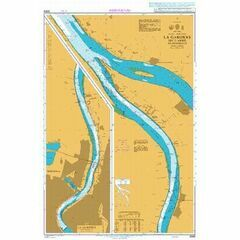 3069 La Garonne Bec d'Ambes to Bordeaux Admiralty Chart