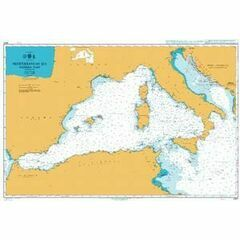 4301 Mediterranean Sea - Western Part Admiralty Chart