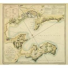 Chart of the Roads & Harbours of Toulon ARC 5458 Admiralty Collection Archive Chart