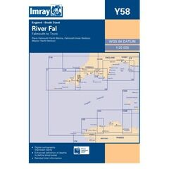 Imray Chart Y58 River Fal: Falmouth to Truro