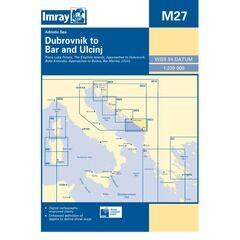 Imray Nautical Chart M27 Dubrovnik to Bar and Ulcinj