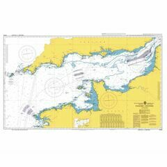 5049 English Channel British Admiralty Instructional Sea Chart