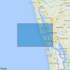 61 India - West Coast, Kochi Harbour Admiralty Chart