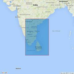 828 Cochin to Vishakhapatnam Admiralty Chart
