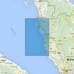 3944 Pulau Pinang to Kepulauan Sembilan Admiralty Chart