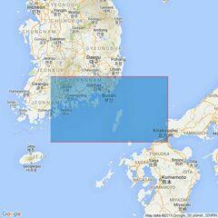 127 Korea Strait Admiralty Chart