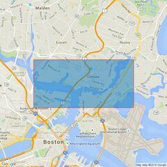 1528 Boston Inner Harbor Admiralty Chart