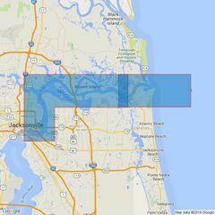2808 Saint Johns RiverMayport to Jacksonville Admiralty Chart