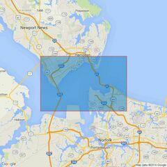 2813 Hampton Roads and Newport News Admiralty Chart