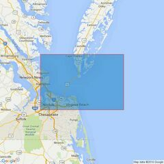 2919 Chesapeake Bay Entrance Admiralty Chart