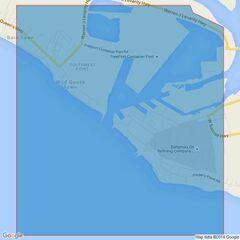 398 Freeport Roads Admiralty Chart