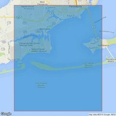 3149 Approaches to Pensacola Bay Admiralty Chart