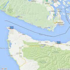 1717 Ports in Juan de Fuca Strait Admiralty Chart