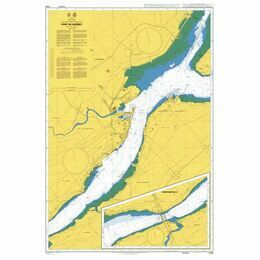 4786 Saint Lawrence River, Port de Quebec Admiralty Chart