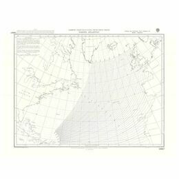 5095b North Atlantic Gnomonic Admiralty Chart