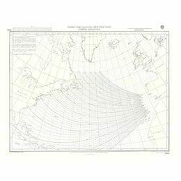 5095c North Atlantic Gnomonic Admiralty Chart