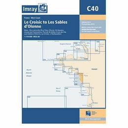 Imray Chart C40 Le Croisic to Les Sables d'Olonne