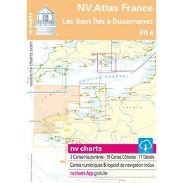 FR4 - Les Sept Îles to Douarnenez Chart Atlas