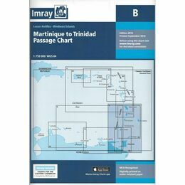 Imray B Martinique to Trinidad Passage Chart