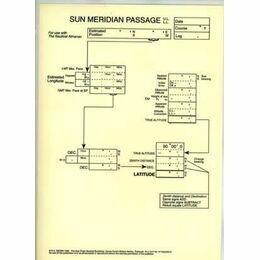 Laminated Sight Reduction Forms - Sun Meridin Passage