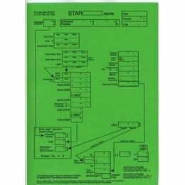Laminated Sight Reduction Forms - Star