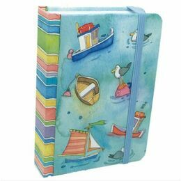 Emma Ball Hardback Notebook A6 - Boats Afloat