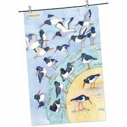 Emma Ball Tea Towel Oystercatcher Birds