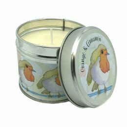 Emma Ball Scented Candle Tin - Orange & Cinnamon
