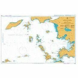 1056 Nisos Kalimnos to Nisos Ikaria inc. Gulluk Korfezi Admiralty Chart