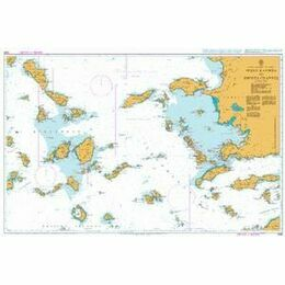 1095 Steno Kafirea to Rhodes Channel Admiralty Chart