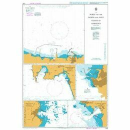 1202 Ports on the North and West Coast of Sardinia Admiralty Chart