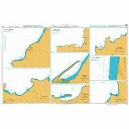 1215 Plans on the Coast of Angola Admiralty Chart
