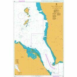 1925 Jabal Zuqar Island to Bab el Mandeb Admiralty Chart