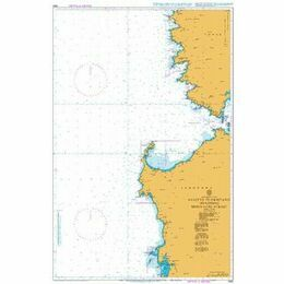 1985 Ajaccio to Oristano inc. Bonifacio Strait Admiralty Chart