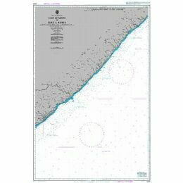 4163 Republic of South Africa, South East Coast, Mbashe Point to Port Shepstone Admiralty Chart